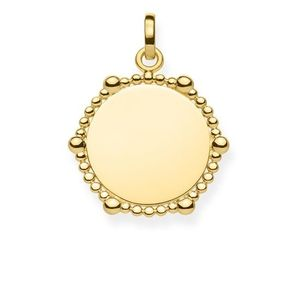 Preview image of Thomas Sabo Gold Plated Dots Coin Pendant