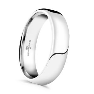 Preview image of Platinum 5mm Softened Flat Court Gents Wedding Ring