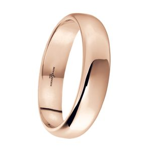 Preview image of 9ct Rose Gold 5mm Lighter Softened Flat Court Gents Wedding Ring
