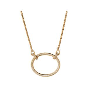 Preview image of Links of London Ovals 18kt Yellow Gold Vermeil & White Topaz Necklace