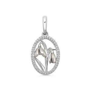 Preview image of Links of London Sterling Silver, Enamel & White Topaz Snowdrop Charm