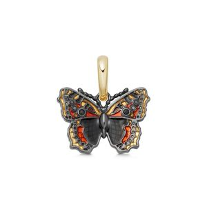 Preview image of Links of London Sterling 18kt Gold Vermeil & Enamel Small Tortoiseshell Butterfly Charm