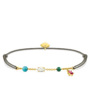 Preview image of Thomas Sabo Little Secrets Yellow Gold Plated Colourful Beaded Bracelet