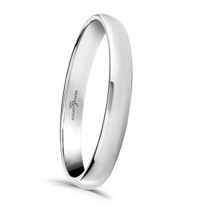 Preview image of 9ct White Gold 2mm Plain Lightweight Court Ladies Wedding Ring