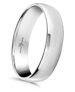 Preview image of Platinum 5mm Lightweight Court Gents Wedding Ring