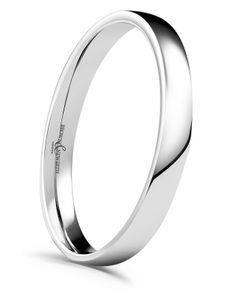 Preview image of 9ct White Gold 2.5mm Lighter Low Domed Ladies Wedding Ring