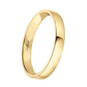 Preview image of 9ct Gold 3mm Lighter Low Domed Ladies Wedding Ring