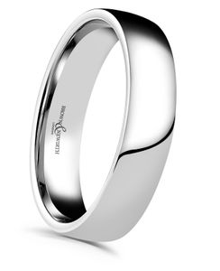 Preview image of 18ct White Gold 5mm Plain Lighter Low Domed Gents Wedding Ring