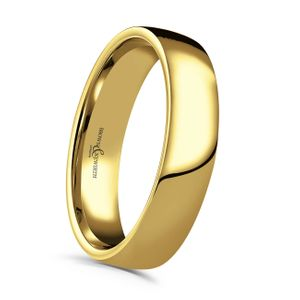 Preview image of 9ct Gold 5mm Lighter Low Domed Court Gents Wedding Ring