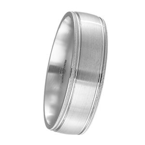 Preview image of Palladium 5mm Beaded Gents Wedding Ring