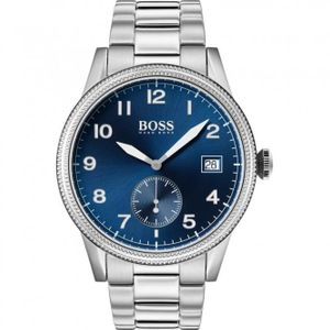 Preview image of Hugo Boss Legacy Blue and Silver 44mm Bracelet Watch