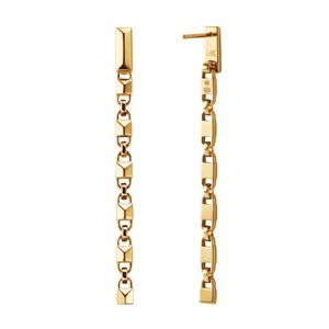 Preview image of MICHAEL KORS 14k Gold Plated Precious Sterling Silver Mercer Link Linear Earrings
