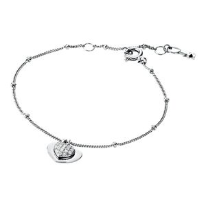 Preview image of Michael Kors Rhodium Plated Sterling Silver Pavé Heart Bracelet