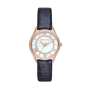 Preview image of Michael Kors Lauryn Blue Leather Strap Watch
