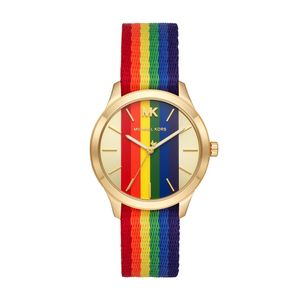 Preview image of Michael Kors Yellow Gold Plated Rainbow Runway Strap Watch