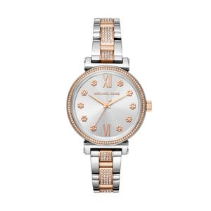 Preview image of Michael Kors Sofie Rose Two-Tone Stone Set Watch