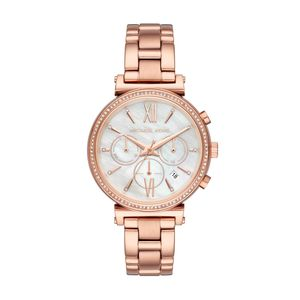 Preview image of Michael Kors Rose Gold Mother of Pearl Sofie Watch