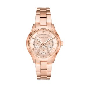 Preview image of Michael Kors Rose Gold Plated Chronograph Runway Ladies Bracelet Watch
