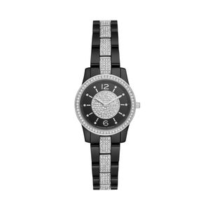 Preview image of Michael Kors Slim Runway Black Ceramic Ladies Watch