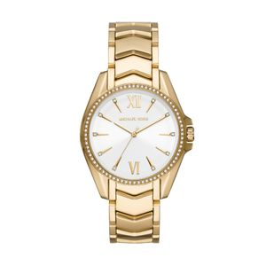 Preview image of Michael Kors Ladies 38mm Gold Plated Whtiney Bracelet Watch