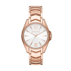Preview image of Michael Kors Ladies 38mm Rose Gold Plated Whitney Bracelet Watch