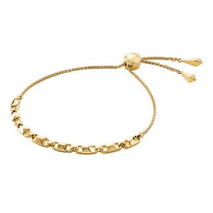 Preview image of MICHAEL KORS MERCER LINK 14K YELLOW GOLD PLATED SLIDER BRACELET