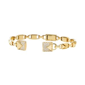 Preview image of Michael Kors Mercer Link 14K Yellow Gold Plated Cuff Bracelet