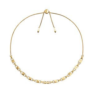 Preview image of MICHAEL KORS MERCER LINK 14K YGP SLIDER ROPE NECKLACE