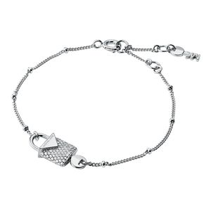 Preview image of Michael Kors Rhodium Plated Sterling Silver Pavé Lock Bracelet