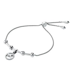 Preview image of Michael Kors Custom Rhodium Plated Sterling Silver Charm Bracelet