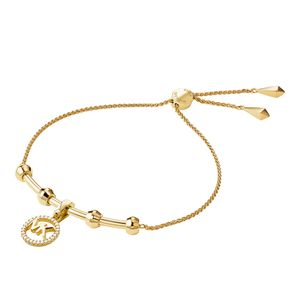 Preview image of Michael Kors Custom 14K Yellow Gold Plated Sterling Silver Charm Bracelet