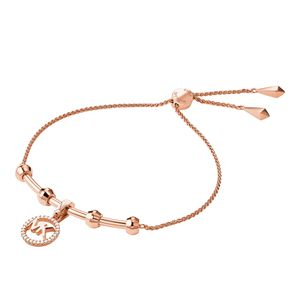 Preview image of Michael Kors Custom Rose Gold Plated Sterling Silver Charm Bracelet