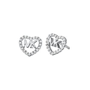 Preview image of Michael Kors Silver Stone Set Heart Logo Studs