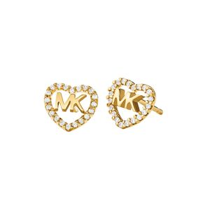 Preview image of Michael Kors Gold Plated Stone Set Heart Logo Studs