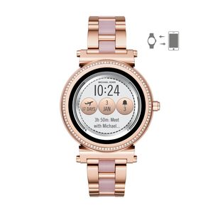 Preview image of Michael Kors Access Sofie Rose Tone & Pink Smartwatch