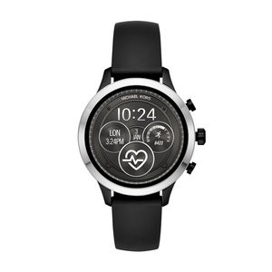 Preview image of Michael Kors Runway Silver-Tone and Silicone Smartwatch