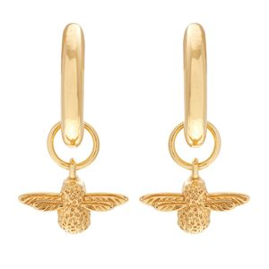 Preview image of Olivia Burton 3D Bee Gold Huggie Hoop Earrings