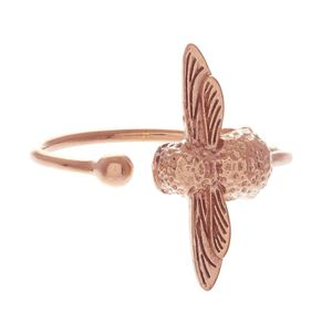 Preview image of Olivia Burton 3D Bee Rose Gold Ring