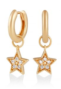 Preview image of Olivia Burton Celestial Star Charm Gold Huggies