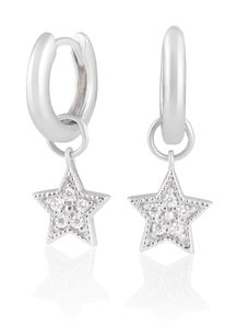 Preview image of Olivia Burton Celestial Star Charm Silver Huggies