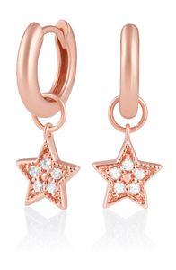 Preview image of Olivia Burton Celestial Star Charm Rose Gold Huggies