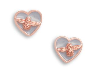 Preview image of Olivia Burton Love Bug Grey & Rose Studs