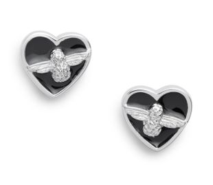 Preview image of Olivia Burton Love Bug Black & Silver Studs