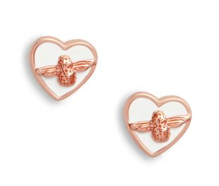 Preview image of Olivia Burton Love Bug White & Rose Gold Studs