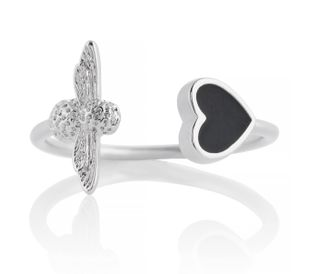 Preview image of Olivia Burton Love Bug Black & Silver Ring