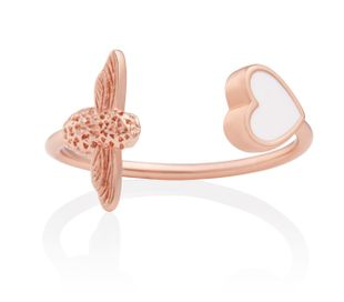 Preview image of Olivia Burton Love Bug White & Rose Gold Ring