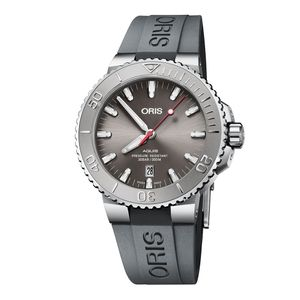 Preview image of Oris Aquis 43mm Gents Grey Rubber Strap Watch