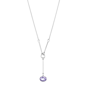 Preview image of Georg Jensen Savannah Amethyst Silver Necklace