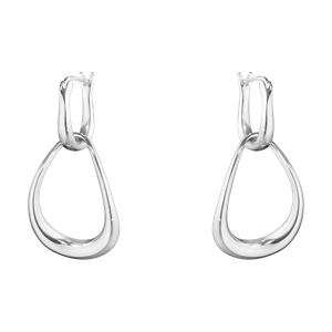 Preview image of Georg Jensen Sterling Silver Offspring Drop Earrings