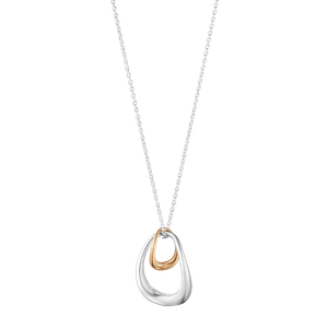 Preview image of Georg Jensen Silver and 18 Karat Rose Gold Offspring Double Loop Pendant